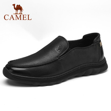 CAMEL chaussures pour hommes nouveau automne affaires décontracté rétro mat en cuir véritable chaussures hommes voile à semelle souple en cuir de vachette chaussures