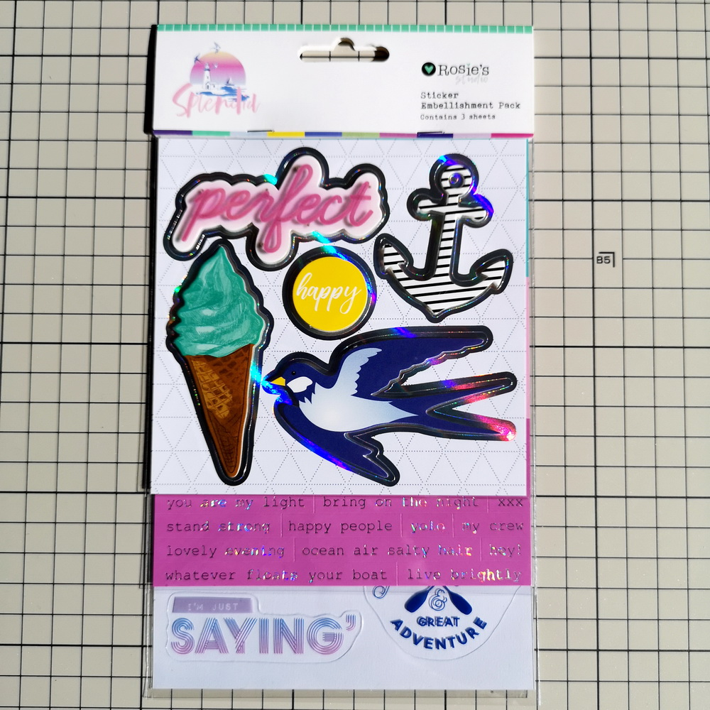 Make me Smile A6 foil Clear Stamp Rosie