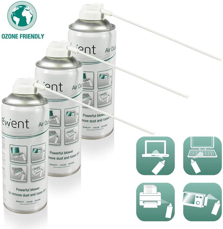 Envio 24-48hrs-PACK - 3 SPRAY AIR EMINENT 400 ML UPRIGHT USE For Cleaning Keyboards, Computers, Twin Lens Reflex And Others