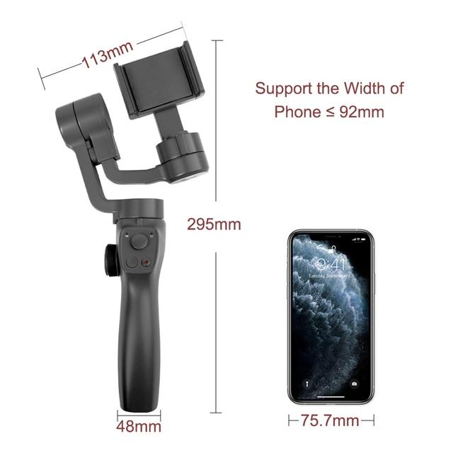 Funsnap Capture2 3 Axis Handheld Gimbal Stabilizer For Smartphone Samsung Iphone X XR 8 7 Gopro Camera Action EKEN 1 Gimbal Kit 2