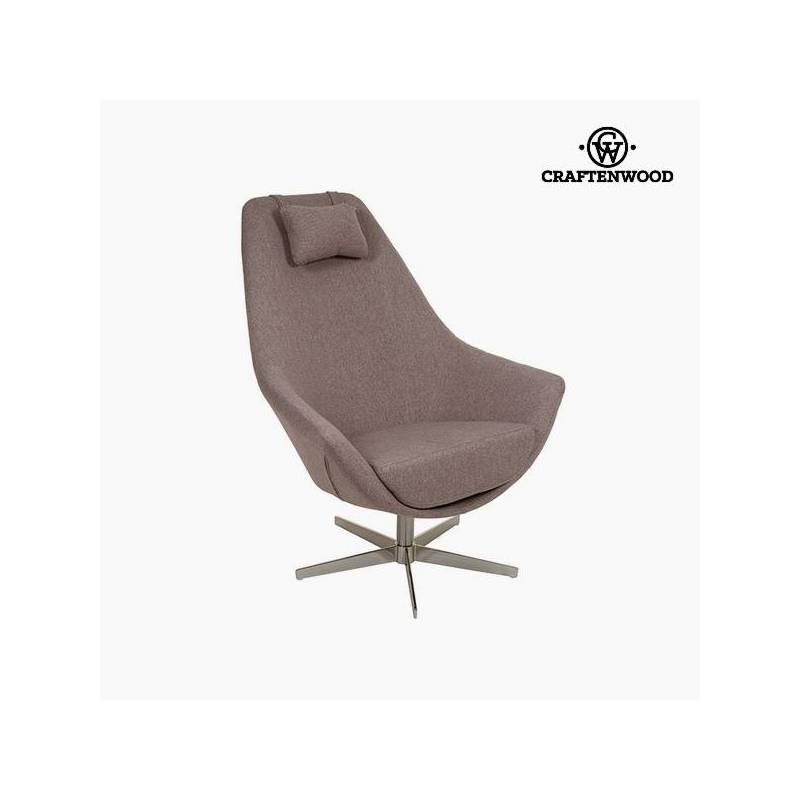 Gray Armchair Polyester (81x89x102 Cm) By Craftenwood