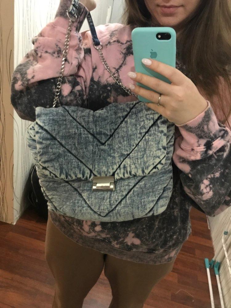 Luxury designer jeans bags women denim chain crossbody bags for women 2021 women's handbags shoulder bags messenger female photo review