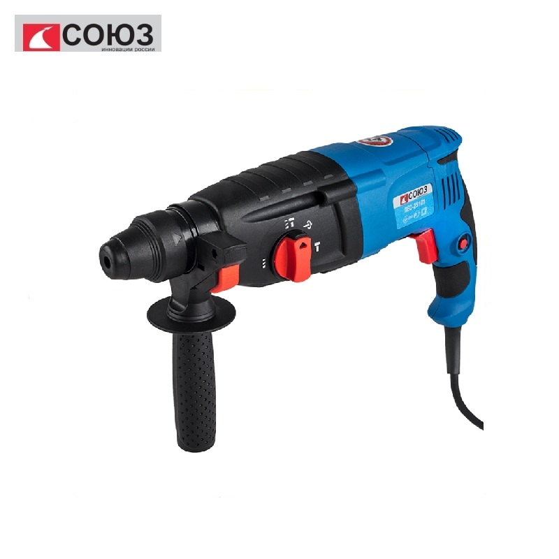 PES-25101 Rotary hammer drill UNION, SDS +, 1000 W, 3 drills, 4400 beats / min, 1100 rpm Heavy Impact Concrete Breaker Electric id2195p hammer drill pros sturm 1000 w 0 2700 rpm 0 45900 bpm percussion drill boring hammer drilling in concrete