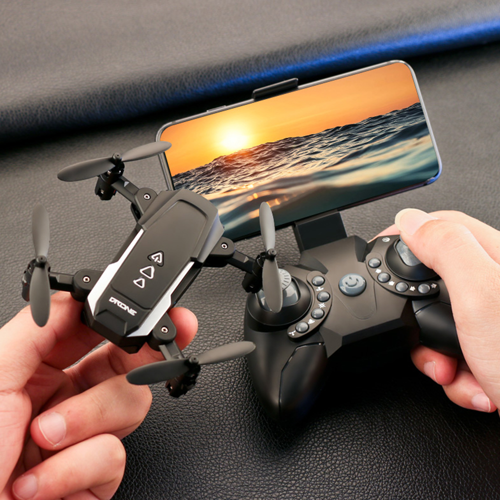 KK8 Foldable Mini Drone WIFI FPV Camera Gesture Photo Gravity Induction RC Helicopter Wide Angle Quadcopter Toys for boys girls