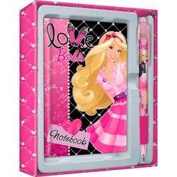 Juego de papelería academia de grupos de Barbie en caja de regalo: cuaderno, bolígrafo