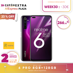 "[Official Spanish version warranty] Realme 6 pro Smartphone 6.6 "", 8 GB RAM  128 GB ROM, octaCore processor Snapdragon 720G"
