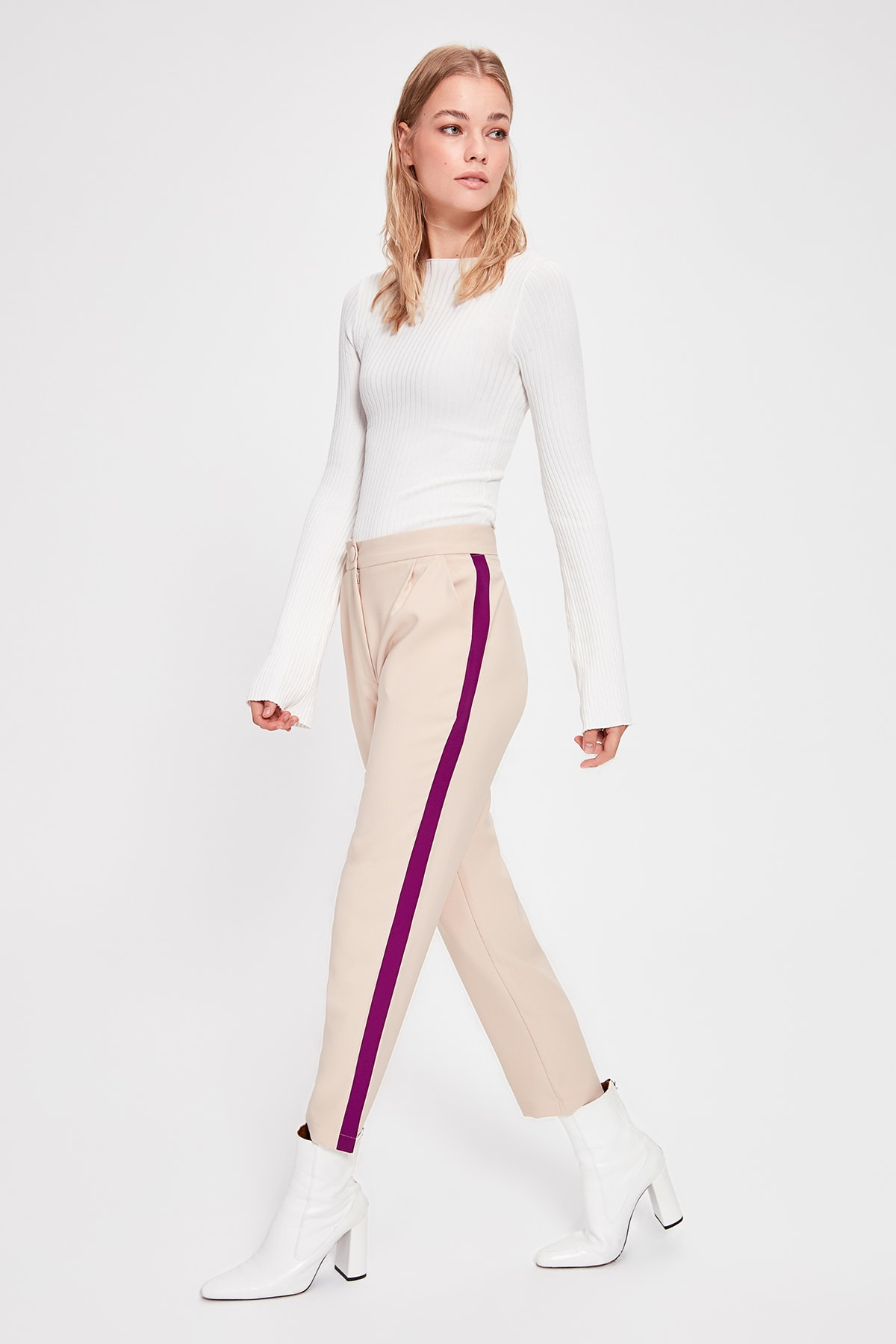 Trendyol With Color Block Pants TWOAW20PL0316