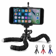 Flexible Phone Holder Sponge Octopus Tripod Bracket Selfie Expanding Stand Mount Monopod Styling Accessories For Mobile Phone цена и фото