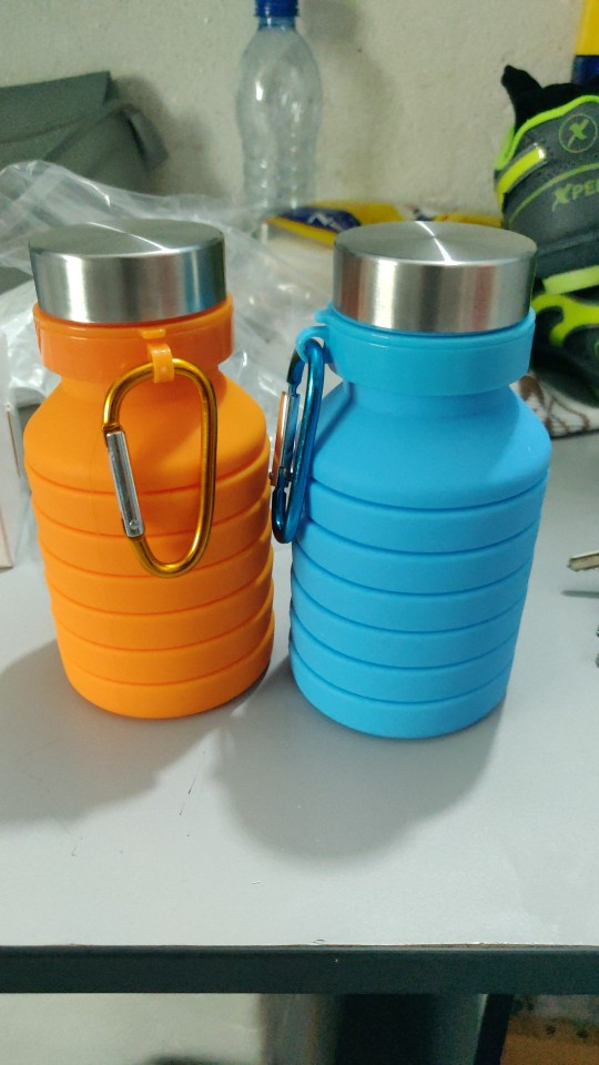 VOZRO 550ml Fold Run Bodybuilding Camping Portable Gel Cup Outdoor Sport Water Bottle My Drink . Botellas Stainless Steel Cover|Water Bottles|   - AliExpress