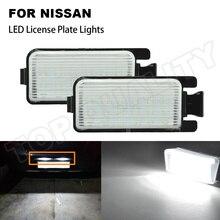 2PCS White LED License Plate Light Replacement For Nissan 350Z Z33 370Z Z34 GTR R35 For