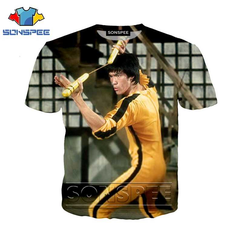 Anime 3d print t shirt Bruce Lee Men Women hip hop fashion t-shirt kung fu rock kid Harajuku tees Funny shirts homme tshirt A73