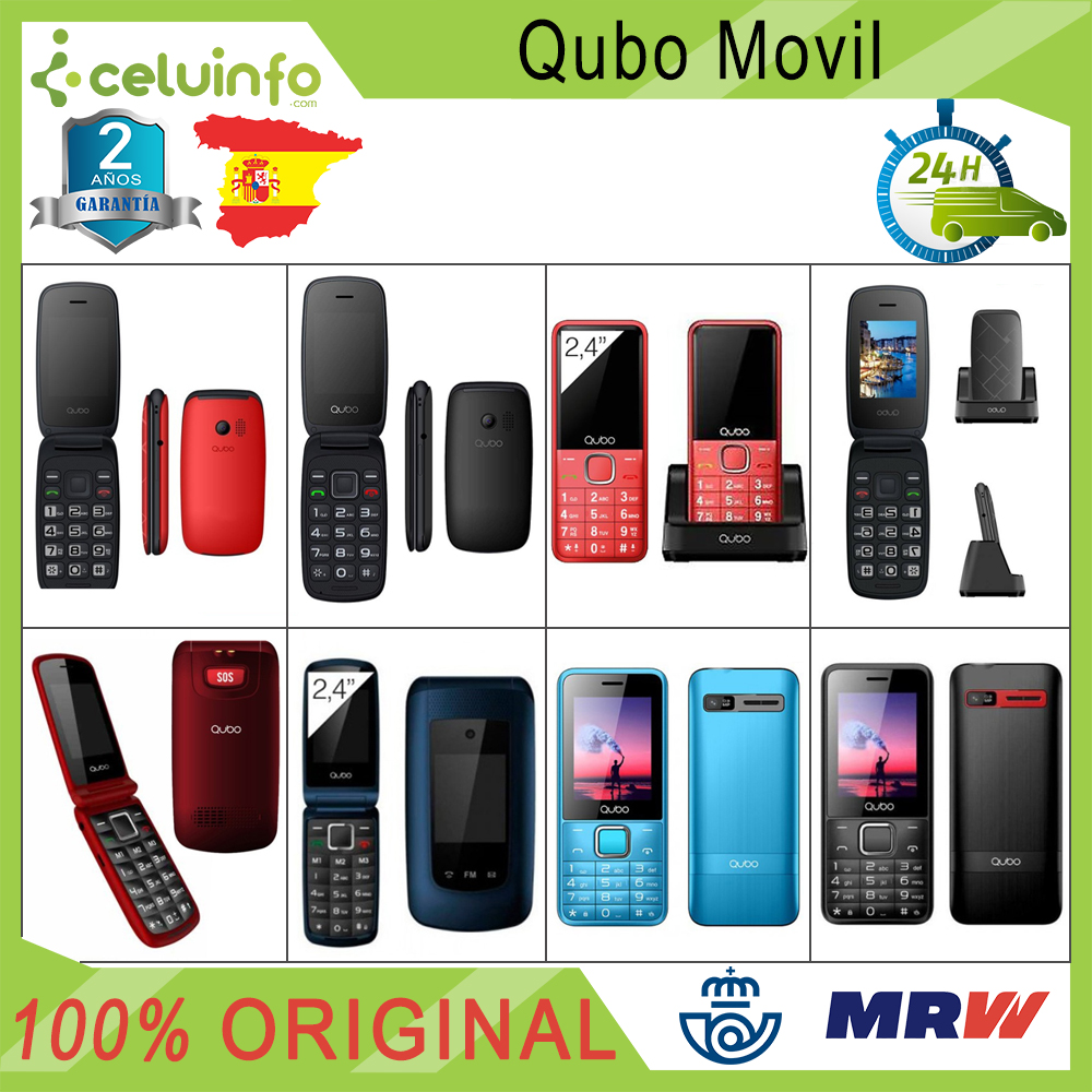 Qubo Mobile Phone New Dual Sim Folding Senior SOS Radio MP3 Keys Large Neo 2 Osiris Xeus X229 Red Blue Black