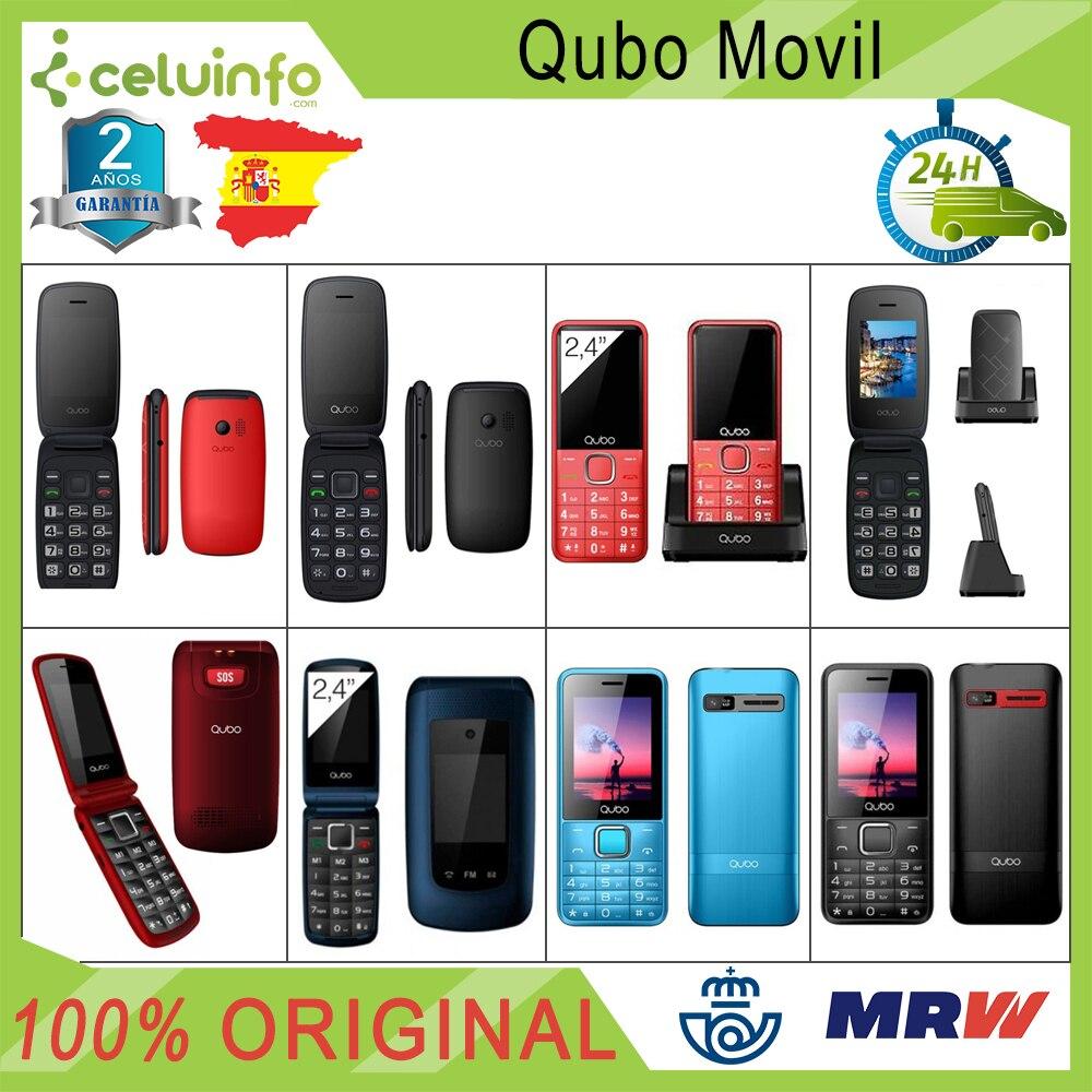 Qubo Mobile Phone New Dual Sim Folding Senior SOS Radio MP3 Keys Large Neo 2 Osiris Xeus X229 Red Blue Black