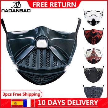 NADANBAO Star Cosplay Stormtrooper Mask Adult Darth Vader Print Kid Washable Masks Fabric Reusable Face Cover - discount item  60% OFF Mask