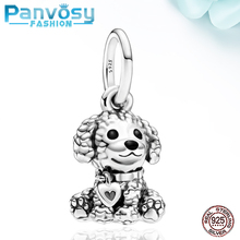 2020 New Style DIY Cute Dog Charm Beads 925 Sterling Silver Fit Pandora 925 Original Charm Bracelets Pendant Gift Jewelry Making