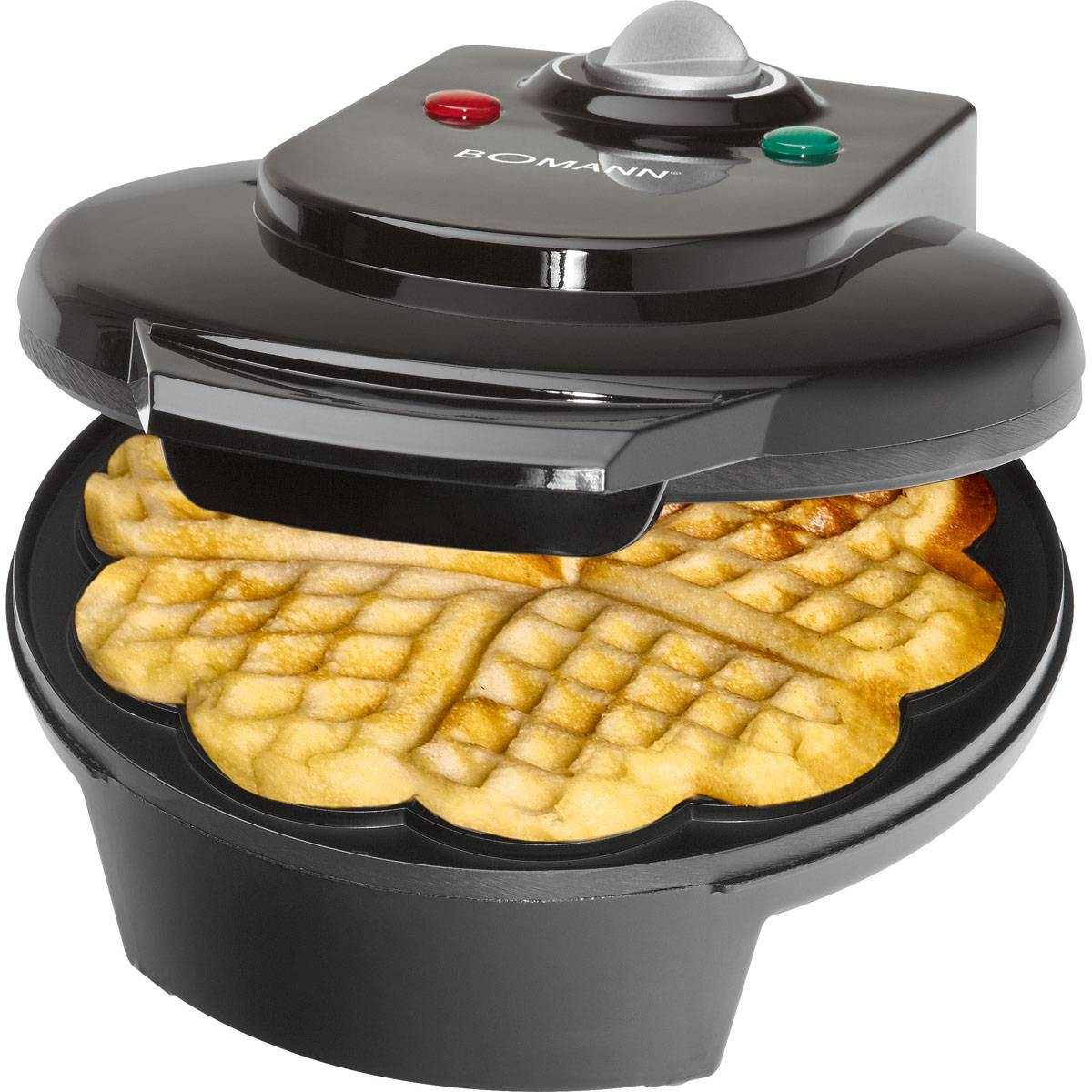 Bomann WA 5018 Waffle with heart shaped base  1200 W  color black|Pancake Makers| |  - title=