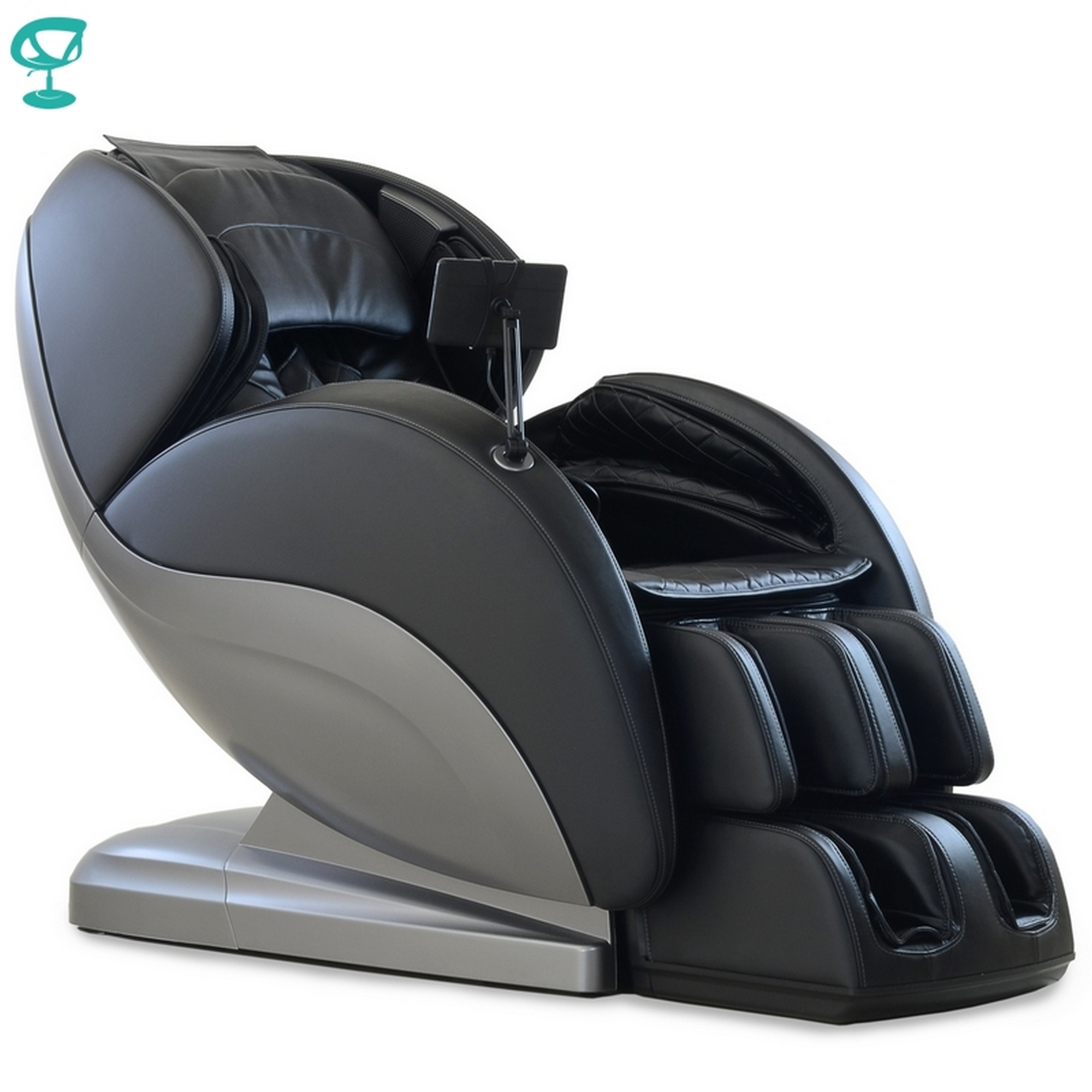95691 Barneo PS6500 Chair Massage Black With Silver Chair Massage Chair With Massage Chair Free Shipping To Russia