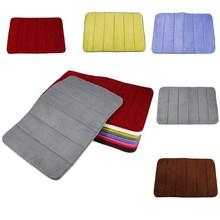 1 unidad de alfombra de baño de espuma viscoelástica, alfombra antideslizante absorbente de lana, Alfombra de dormitorio, Felpudo de cocina, alfombra antideslizante de Coral blando