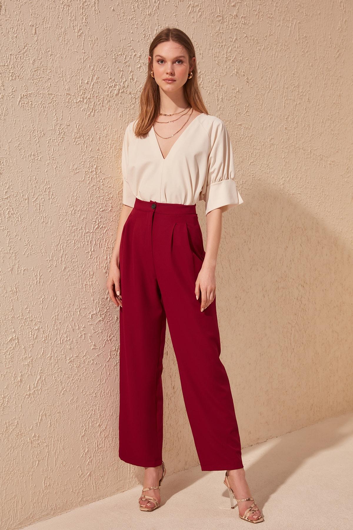 Trendyol Damson Flare Pants TWOSS20PL0194