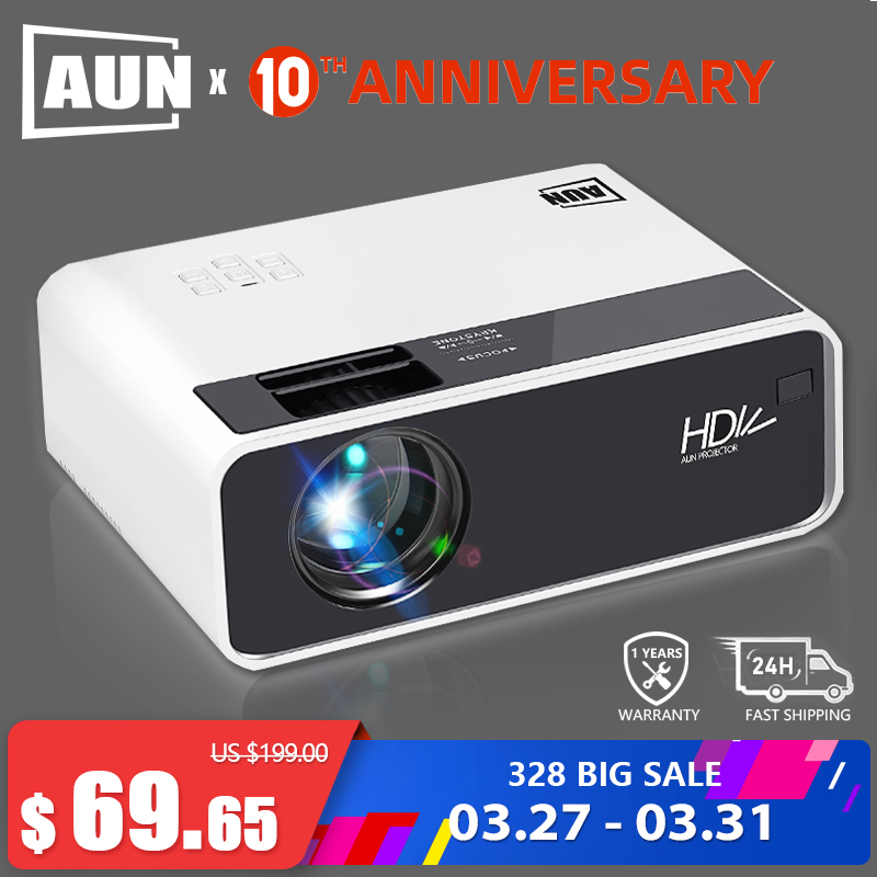 AUN HD Projector D60 | 1280x720 Resolution MINI LED Video 3D Projector for Full HD Home Cinema.HDMI (Optional Android WIFI D60S)|LCD Projectors| |  - title=