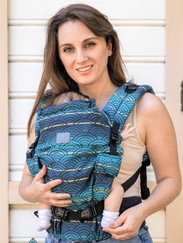ergonomic baby carrier wipi , %100 organic cotton