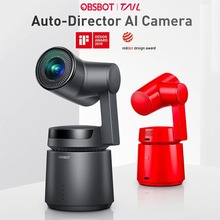 OBSBOT хвост AI Vlog Камера с 4 K/60fps видео и 12 Мп фото 3-осевому гидростабилизатору со встроенным модулем Камера, AI слежения съемка 360