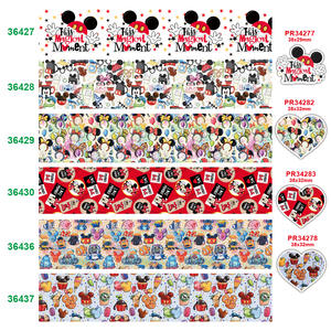 free shipping characters printed grosgrain ribbon 36427