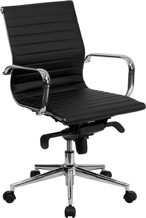Office Armchair ALABAMA, Rotatable, Similpiel Black