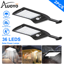 Auoyo 36 LED Solar Lights Outdoor Lighting Wireless Solar Motion Sensor Lights with Rotatable Mounting Pole IP67 Waterproof