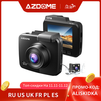 Updated AZDOME GS63H Dash Cam 4K Built in WiFi GPS Car Dashboard Camera Recorder with UHD 2160P, 2.4 LCD, WDR, Night Vision image