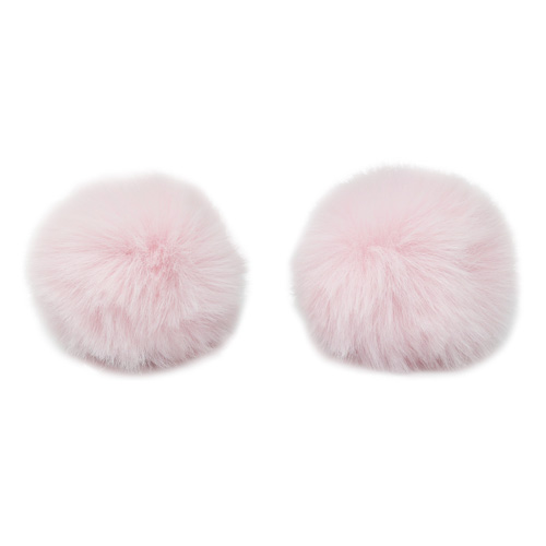 Pompon Made Of Artificial Fur (rabbit), D-6cm, 2 Pcs/pack (I St. Pink)