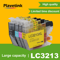 Plavetink lc3213 xl cartucho de tinta compatível para o irmão lc 3213 DCP-J772DW DCP-J774DW MFC-J890DW MFC-J895DW impressoras tinta completa
