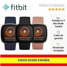 Fitbit Versa 3 - Smartwatch de salud y forma física con GPS integrado, análisis continuo de la frecuencia cardiaca