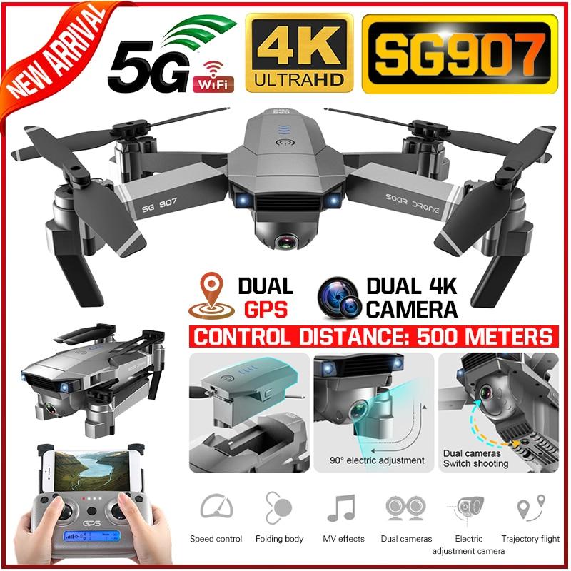 SG907 4K 1080P Video Gimbal Full HD Dual Kamera RC Drone FPV GPS 5G WIFI Quadcopter Folgen mich Professionelle Weitwinkel Anti Schütteln