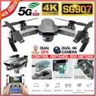 SG907 4K 1080P Video Gimbal Full HD Dual Kamera RC Drone FPV GPS 5G WIFI Quadcopter Folgen mich Professionelle Weitwinkel Anti Schütteln - 1