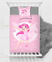 Else Pink Fairy Princess Girl Butterfly Sea Baby Boy Kids Children 3d Print Single Bedspread Bed Cover Gift Combine Pillow Cover