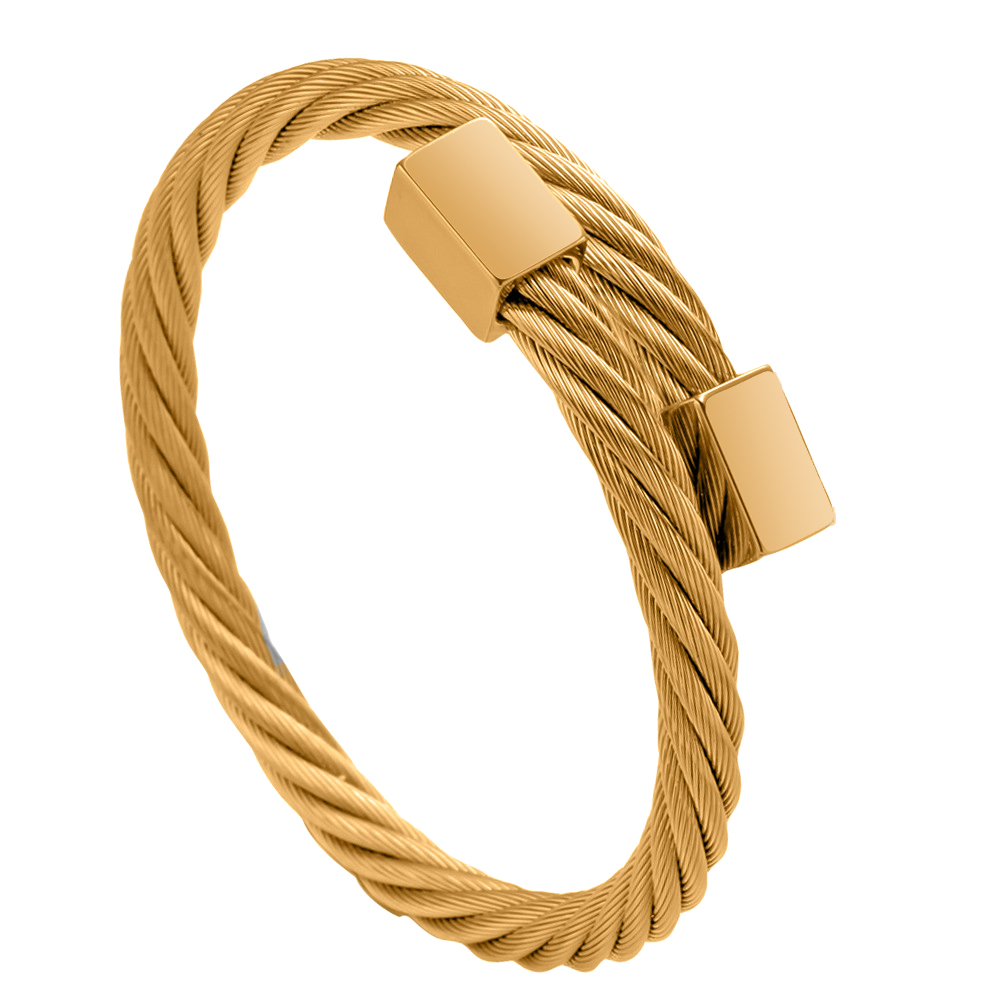 gold bangle Stainless steel bangle Men bracelet Titanium Adjustable Opening cuff Charm jewelry pulseras hombre luxury jewelry