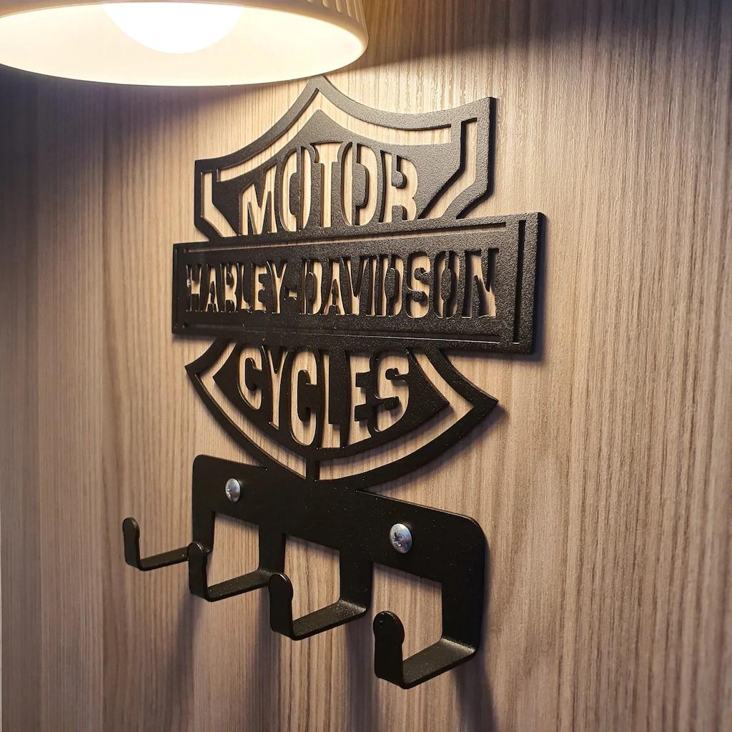 3D металлическая вешалка для Офис, ручной стержень, для кафе, для ресторанов для Harley Davidson фанаты пальто и Полотенца багажная велосипедная люб...