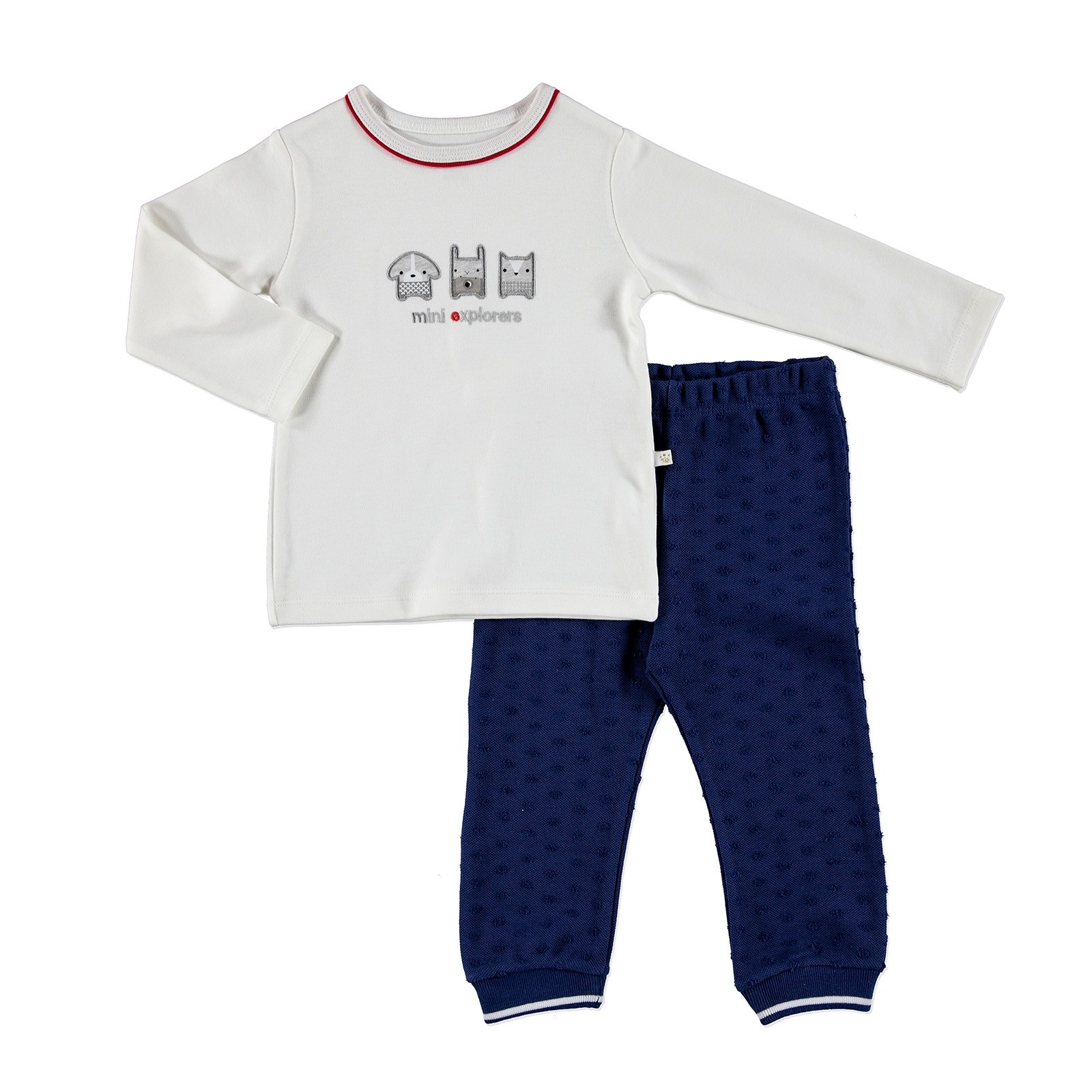 Ebebek For My Baby Mini Polo Neck Sweatshirt Trousers 2 Pcs Set