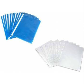 Wire File Blue 50 PCs + 2 Pack Pouch 100 Package