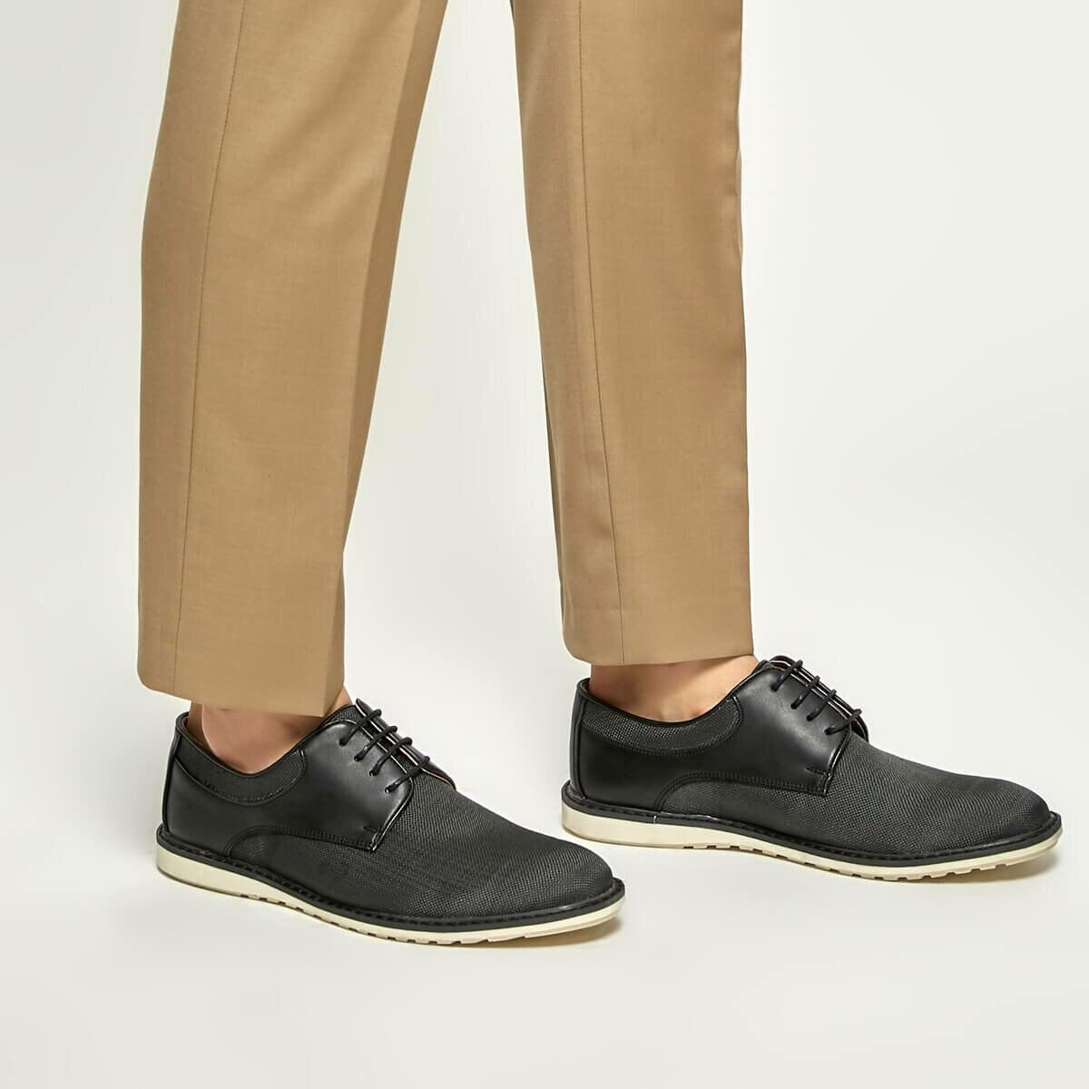 FLO 5700-1 Black Men 'S Classic Shoes JJ-Stiller
