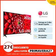 Television LG 43UN7100 55UN7100 43 y 55 Pulgadas Smart TV 4K UHD Panel IPS Quad Core 10 bits, HDR 10, ULTRA Surround 20W, Plaza