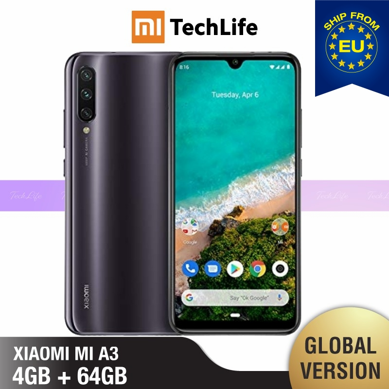 Global Version Xiaomi Mi A3 64GB ROM 4GB RAM (Brand New / Sealed) Mi A3, Mia3
