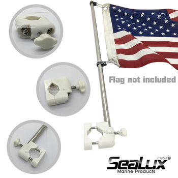 Sealux Marine Grade Stainless Steel 304 Flag Pole for ϕ22.2mm to ϕ25.4mm tube Boat Yacht Car RV Fishing Marine Accessories sealux removable flag pole marine grade 304 stainless steel flag staff for boat yacht camper rv