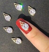 10pcs Water Drop Nail Charms Diamond For 3D Nail Art Supplies DIY nail art jewels Decorations 10pcs 3d nail jewelry charm red diamond rhinestone charms rhinestones for nail glitter diy nail art decorations 2019