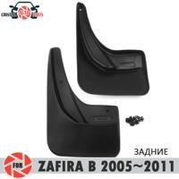 Car mud flaps for Opel Zafira 2005~2011 mudflaps splash guards mud flap rear mudguards fender car accessories dirt protect