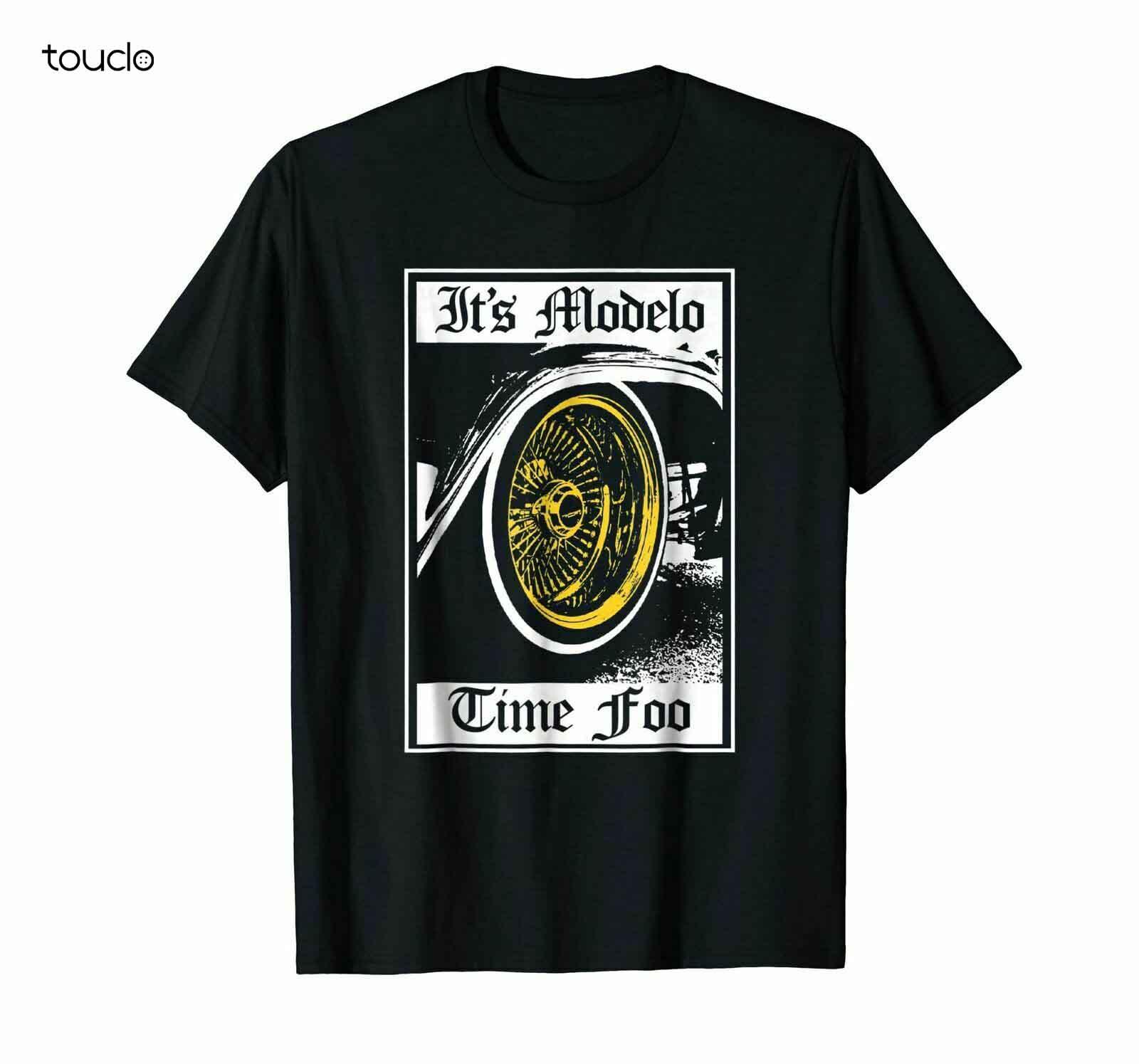 É modelo tempo foo com aro preto camiseta S-3XL