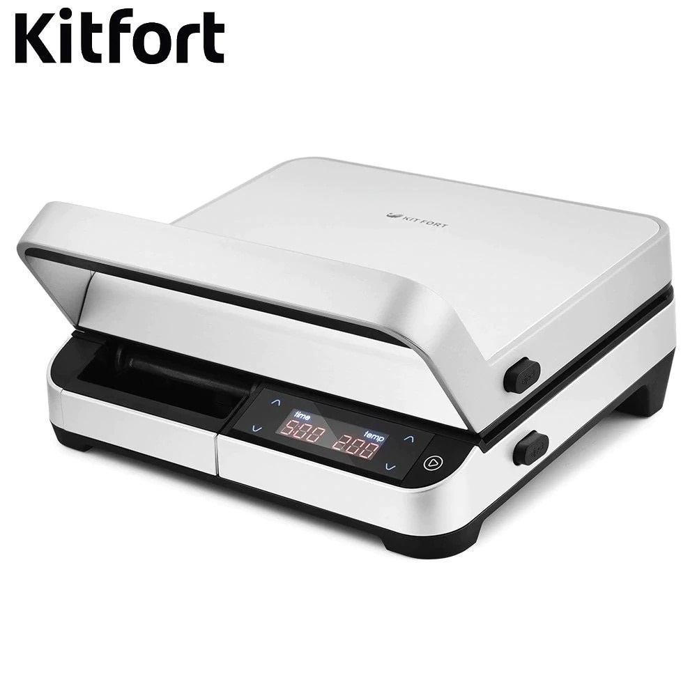 Electrical Grill Kitfort KT-1639 Electrical Grill KITFOR home kitchen appliances Lazy barbecue Grill electric 16 a air conditioning water heater leakage protector plug socket switch electrical appliances prevent electric shock