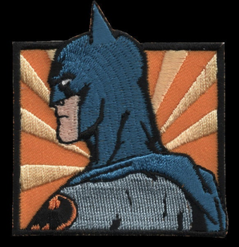 Batman Sắt Miếng Dán Toppa Ricamata Gestickter Miếng Dán Miếng Dán Brode Parche Bordado Kích Thước: 5,90Cm