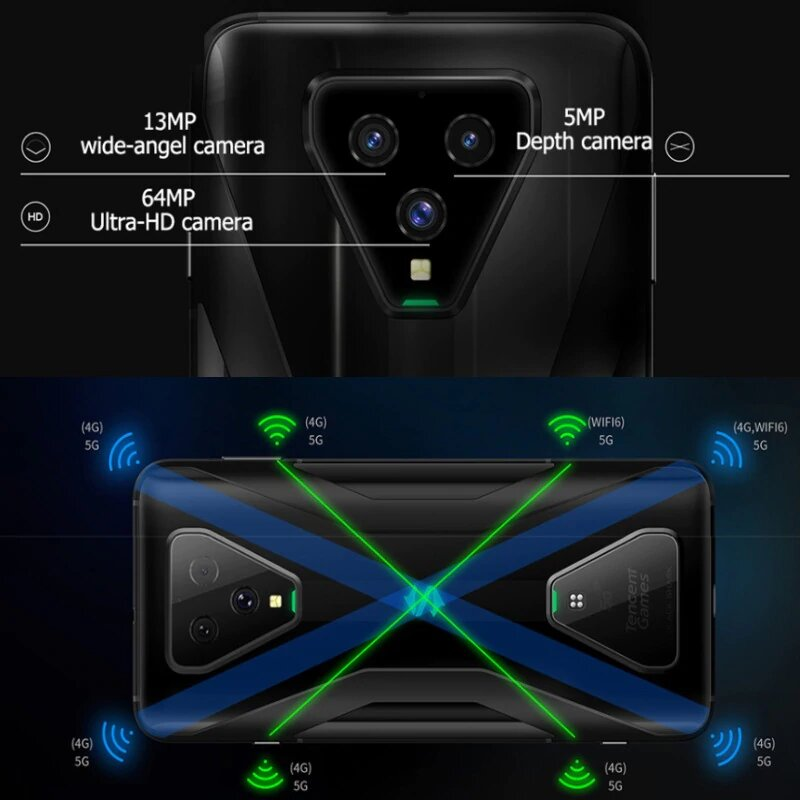 EU Version Xiaomi Black Shark 3 256GB ROM 12GB RAM 5G Gaming phone (Newly Launch Promo) blackshark, blackshark3 Smartphone Mobil